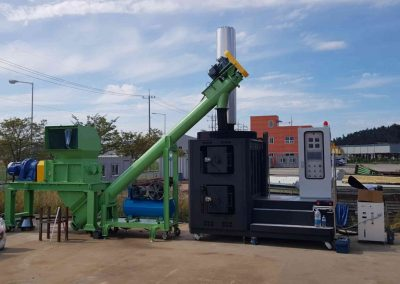 CLEANTECH-VULKANNO-INCINERATOR completesystem Pyrolysis Waste Management