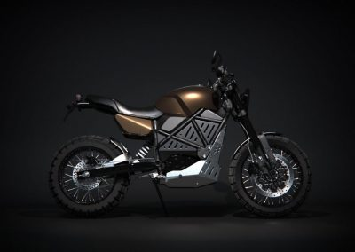 EMGo-Scramper-ElectricMotorcycle-Green-whole-exhibition-side
